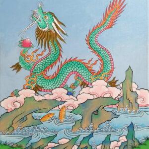 Dragon et poissons