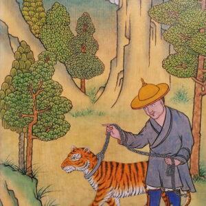 Homme avec le tigre