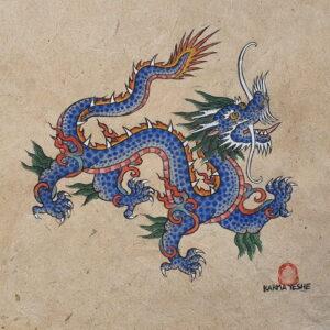 Dragon bleu (Gouache)