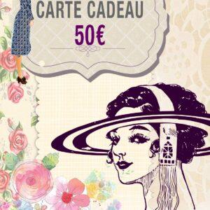 Carte Cadeau Chapeau de 50€