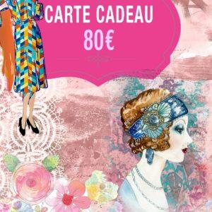 Carte Cadeau de 80€