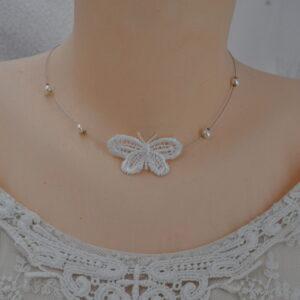 Collier mariage papillon d'hiver, Réf. 245