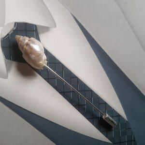 Epingle à cravate ou à lavallière, thème de la mer, avec coquillage, Réf. 56