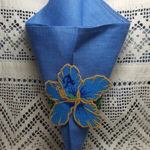 Rond de serviette Hibiscus A