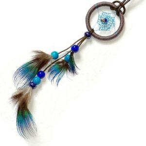 Collier dreamcatcher bleu, réglable