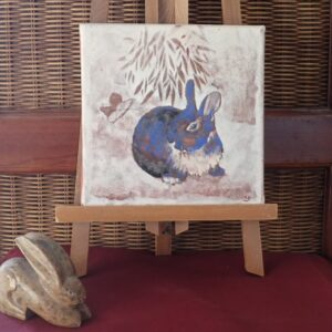 Le lapin bleu
